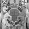 Painted plaster cast, Heraldic panel for Scone Palace.