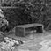 Attadale Garden 'bottom bench', with Hilaire Belloc inscription.
